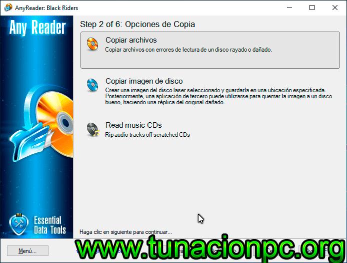 AnyReader, Copia informacion de tu CD/DVD