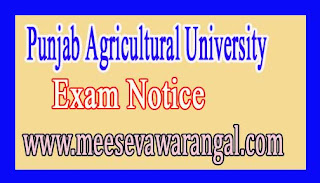 Punjab Agricultural University Home Sci Extension / Communication Mgnt Interview Notice