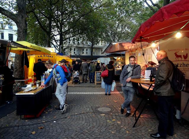 Meet & Eat street food market in Cologne, Germany