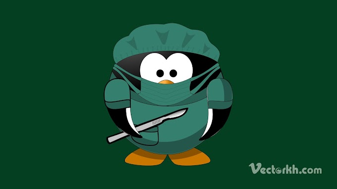 Doctor penguins animal free vector