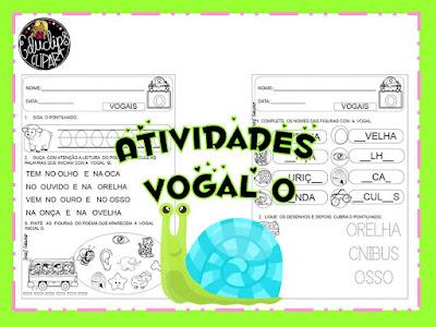 Atividades de vogais, Letra O, Atividades de alfabetização, Atividades de 1º ano,