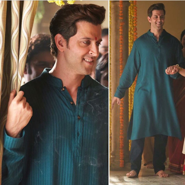 Hrithik Roshan In Anita Dongre For Kaabil Movie Scene