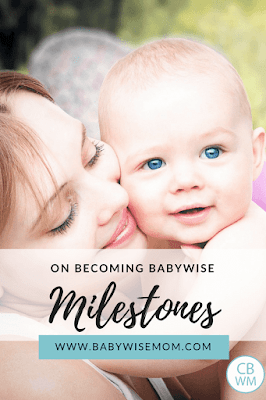 Babywise Milestones you can expect in the first two years when you follow On Becoming Babywise. When to expect sleeping through the night, naps dropped, a four hour schedule, and other milestones.