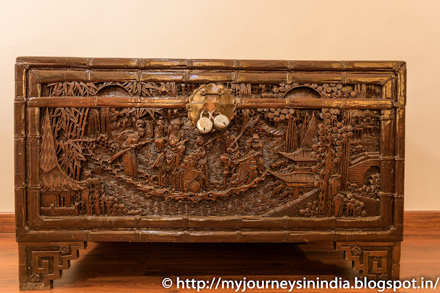 Wooden Trunk Box at Shiva Vilas Palace Hotel