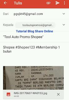 Cara daftar di Tool Auto promo shopee melalui email