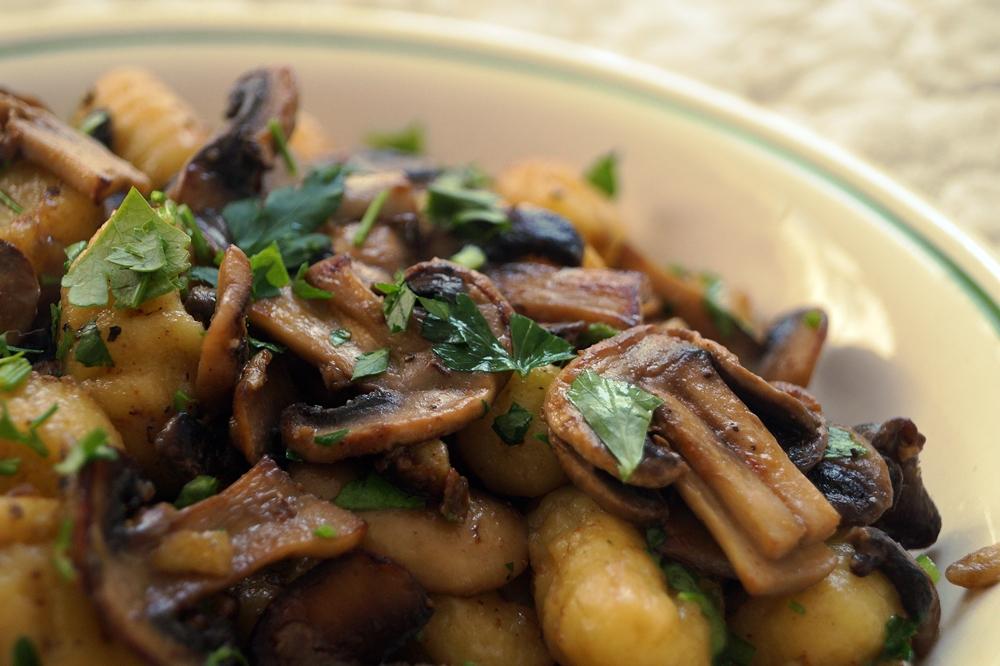 Gnocchi-Pfanne mit Pilzen