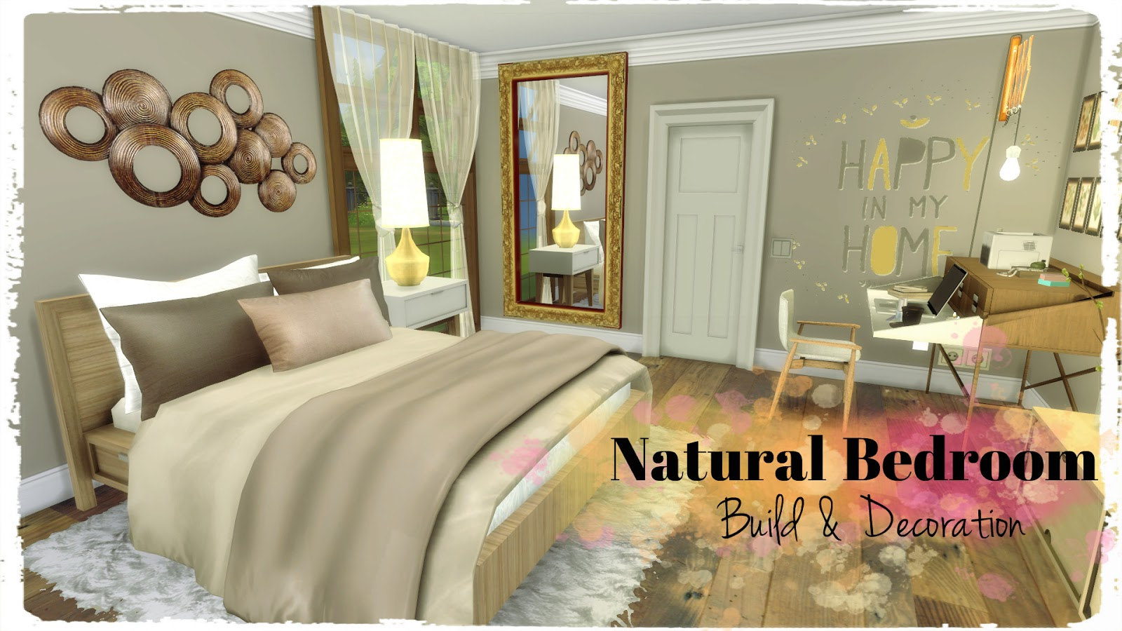 Sims 4 natural bedroom dinha Nature bedroom