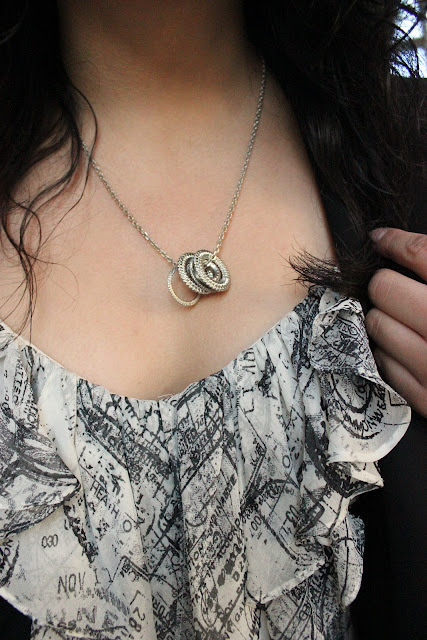 Forever 21 Rings Silver Necklace