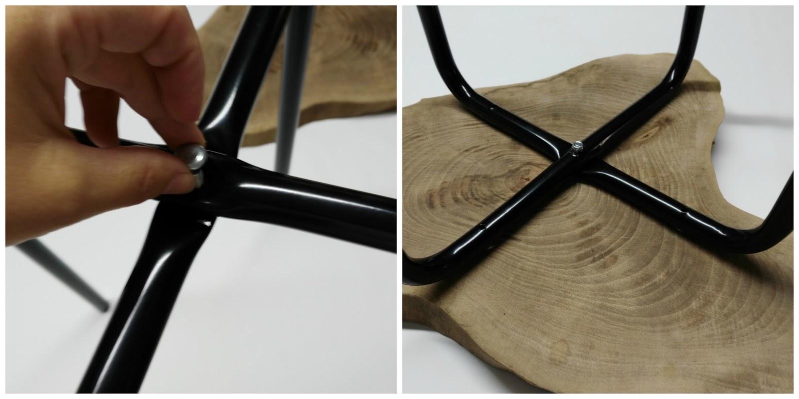 Diy mesa auxiliar con rodaja de madera - Todos los productos ikea ...
