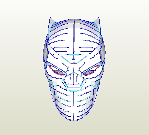 Dali Lomo How To Make Your Own Black Panther Helmet Pdf Template