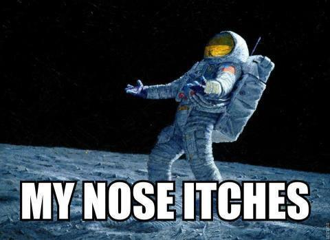 Funny Picture - Houston Moon Lunar Landing Astronout