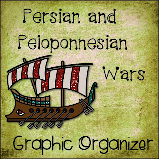 Free Persian and Peloponnesian Wars Chart from History Gal