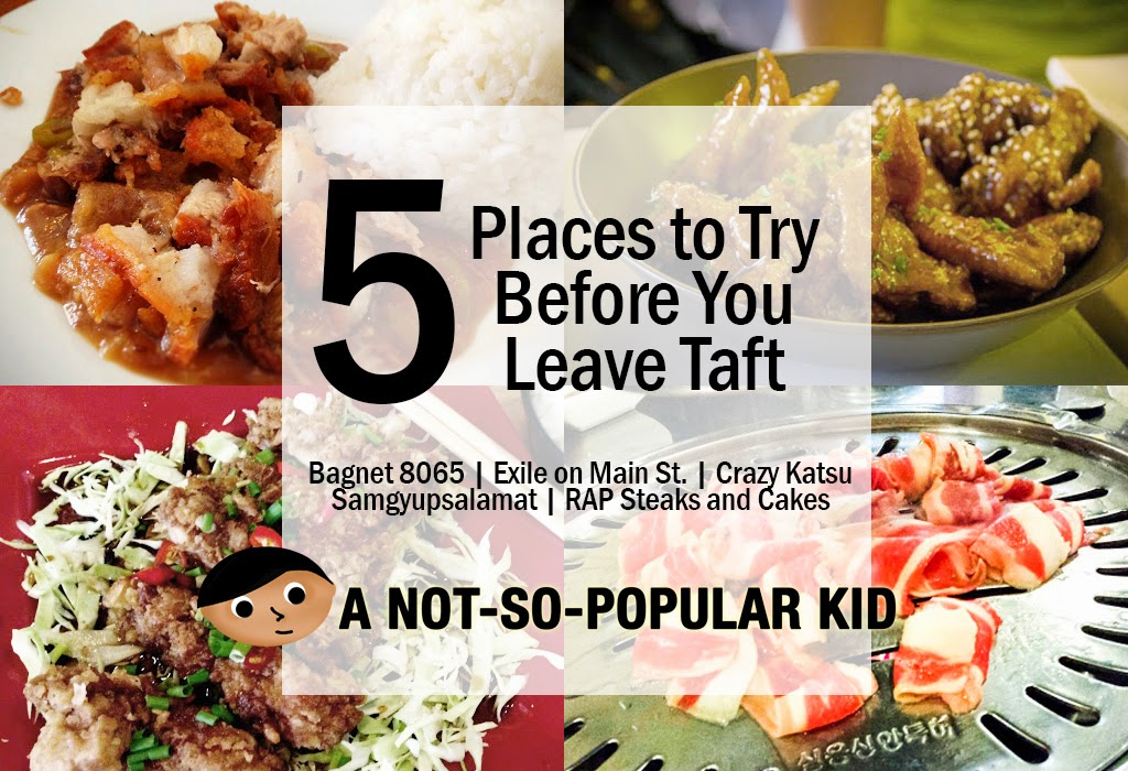 5 Places to Try Before You Leave Taft