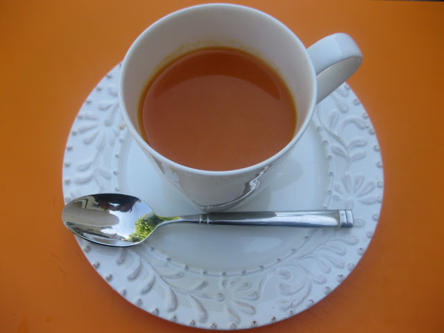 mug of carrot soup