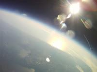 Vista desde el transbordador Endeavour