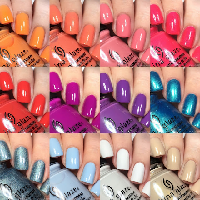 China Glaze Shades of Paradise Collection