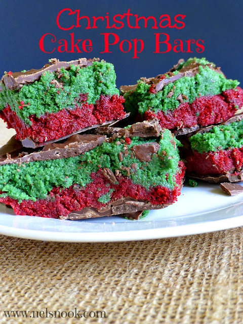 Christmas Cake Pop Bars