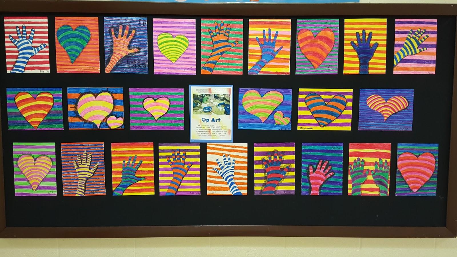Mrs Elder S World Of Art Fifth Grade Op Art