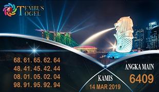 Prediksi Angka Togel Singapura Kamis 14 Maret 2019