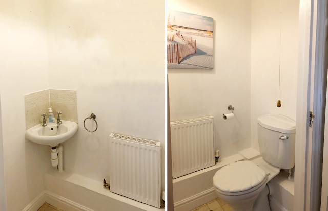 How my interior tastes and my home has changed over the past five years, featuring my downstairs loo, living room, and spare bedrooms.