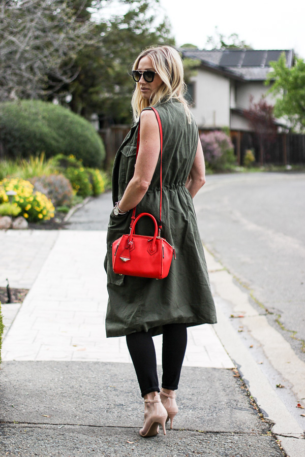 long green duster vest
