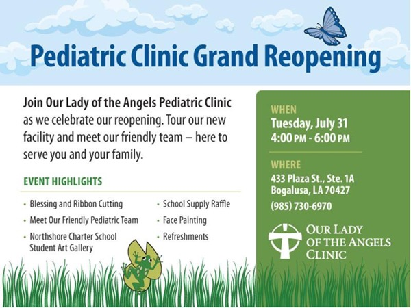 OLOA Pediatric Clinic Grand Reopening is July 31