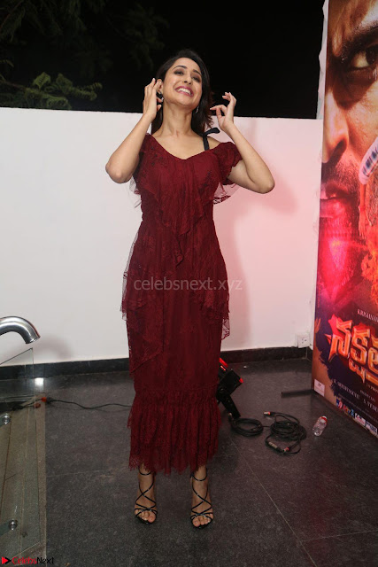 Pragya Jaiswal in Stunnign Deep neck Designer Maroon Dress at Nakshatram music launch ~ CelebesNext Celebrities Galleries 001.JPG