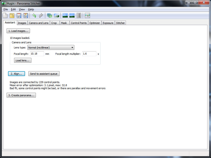 Photozblog com: Hugin Panoramic Software (Freeware Review)