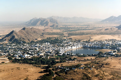 Inspired in India | View of Pushkar from the Saraswati Temple in summer