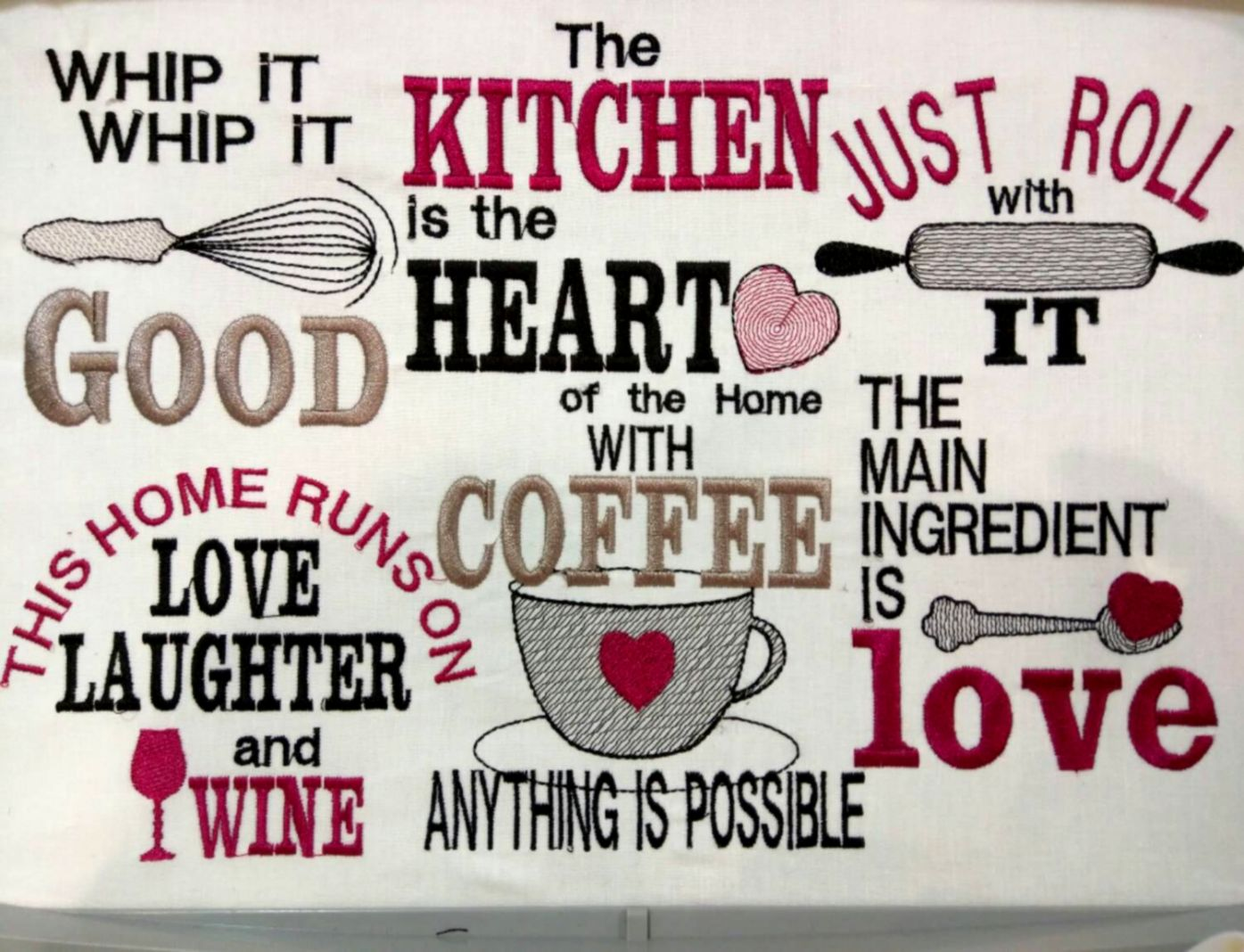 Kitchen Sayings Embroidery Pattern Www Topsimages Com