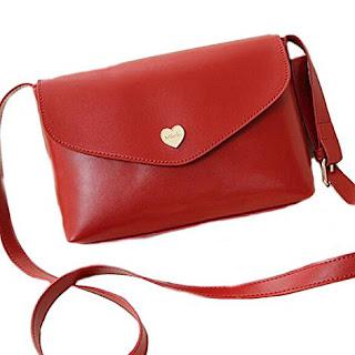 BuyHere Mini Borsa donna tracolla Celine Crossbody rossa