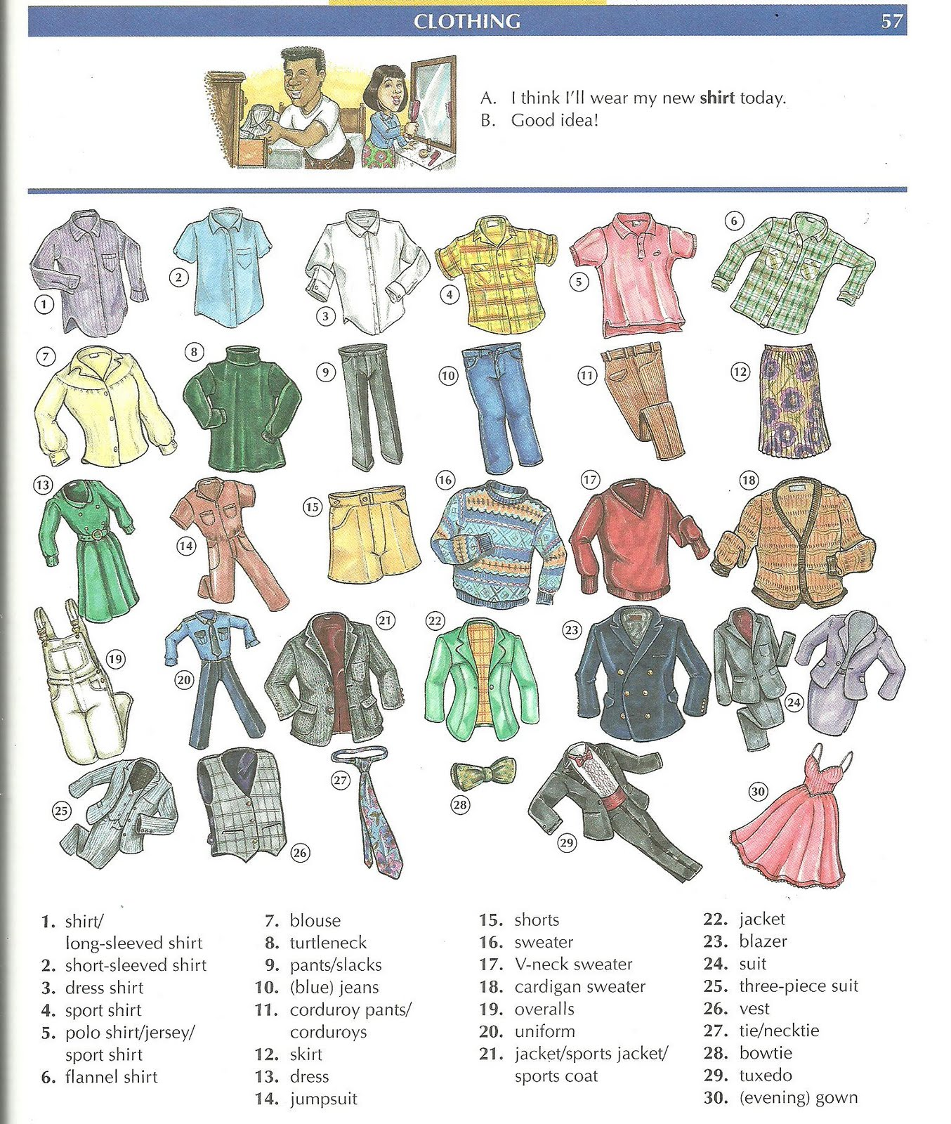 Mauxi Efs Clothes Vocabulary