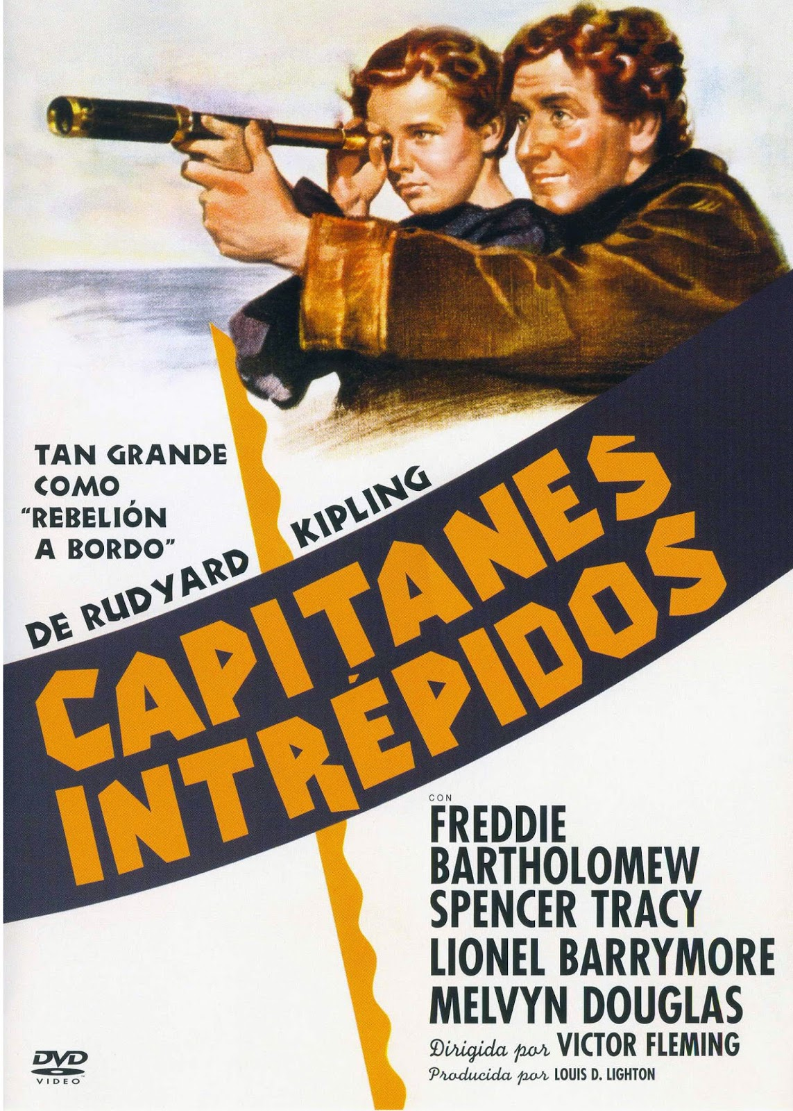 Capitanes Intrepidos (1937) Aventuras con Spencer Tracy