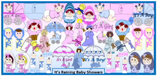 It's Raining Baby Showers Products Gallery