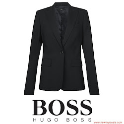 Queen Letizia Style HUGO BOSS Blazer and HUGO BOSS Dress