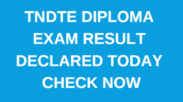 TNDTE October Diploma Result 2018 declared; check details