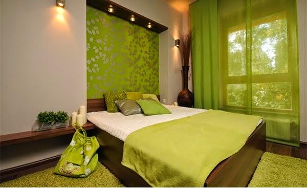 cuarto con verde lima