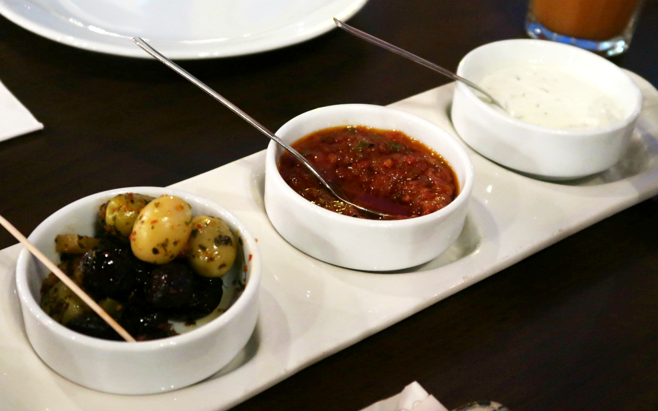 Traditional Turkish Grill at Zeytin Greenwich Restaurant Review Dips