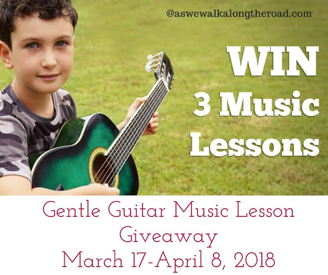 Gentle Guitar lesson giveaway