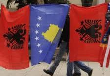 kosovo albania flags