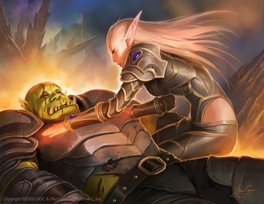 Wow night elf ducked by orc erotic photo