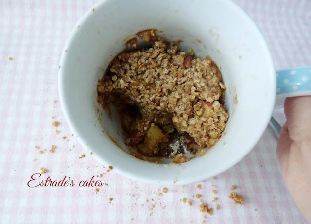 receta de crumble de manzanas al microondas 5