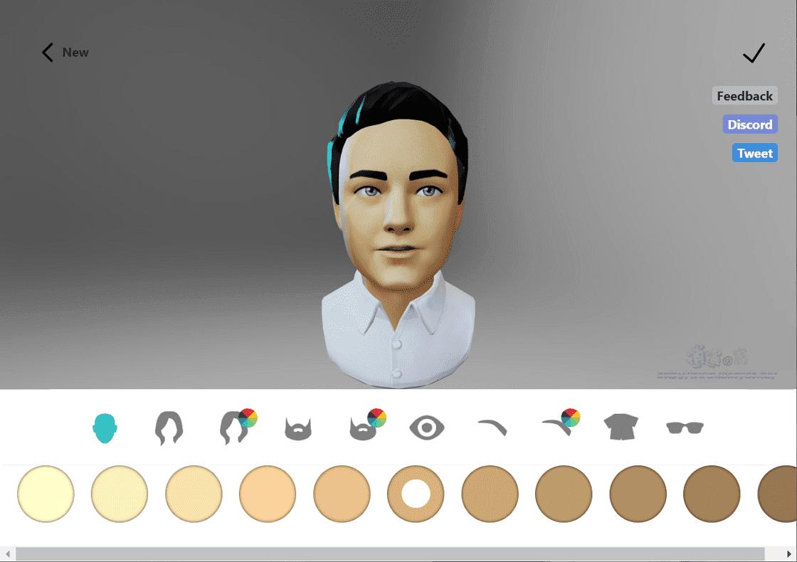 Ready Player Me 製作3D頭像