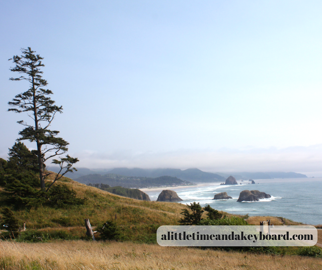Viewing the stunning shoreline along the Oregon Coast on display from Ecola State Park.