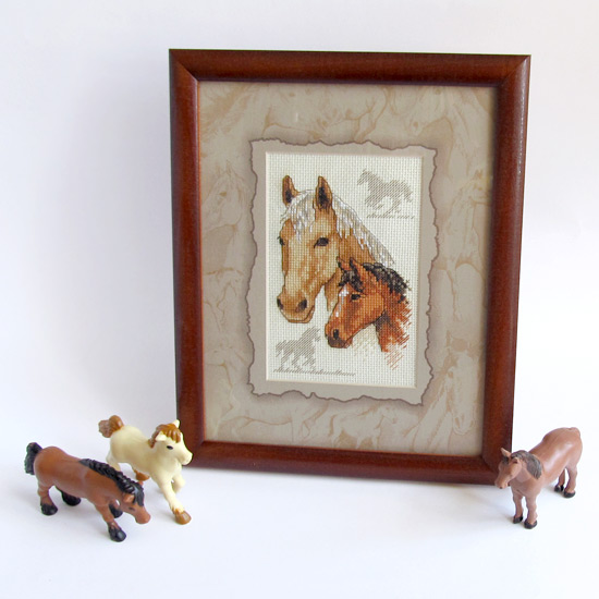 Equestrian Duo, лошадки, вышивка