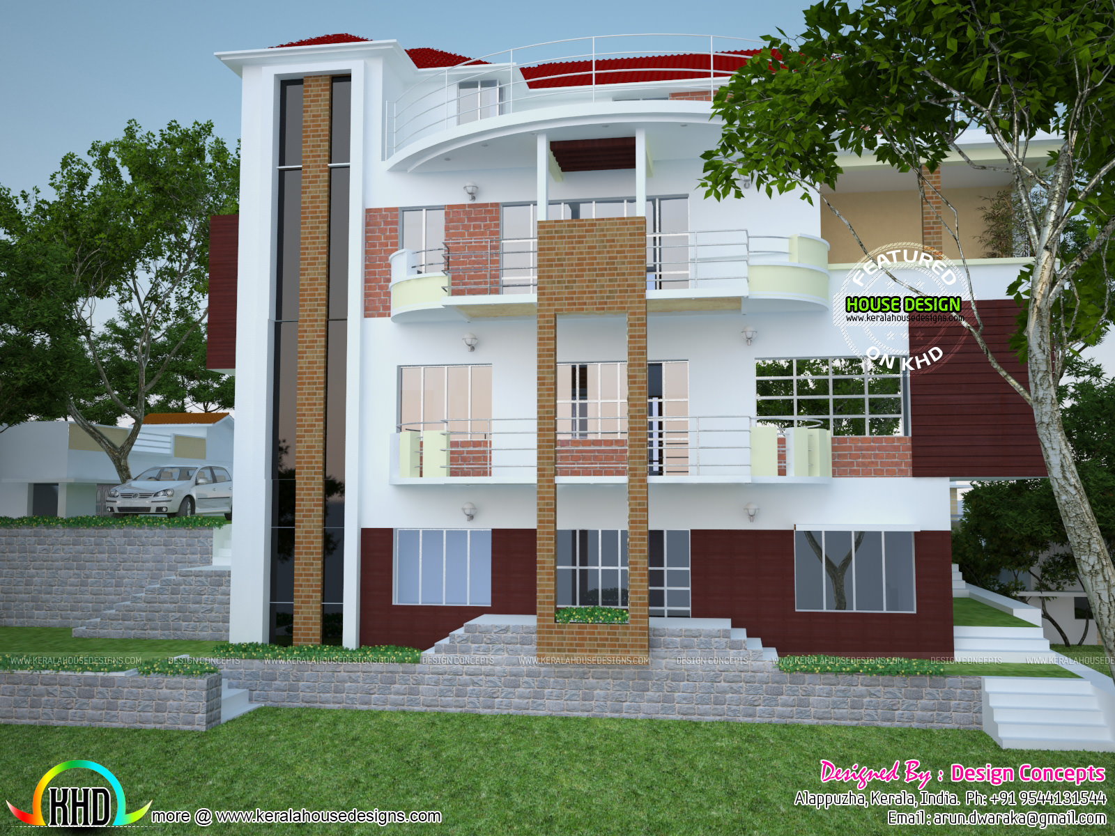 Multi family 4 plex home plan kerala home design and for House plans for family of 4