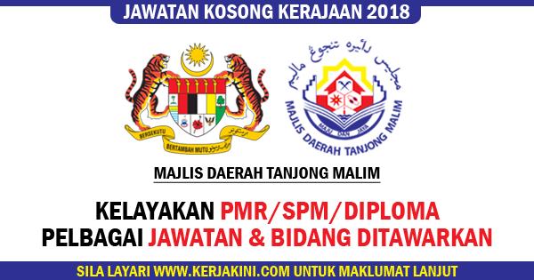 jawatan kosong 2018 majlis daerah tanjong malim