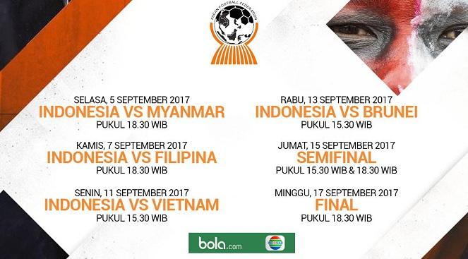 Jadwal Piala AFF U19 2017