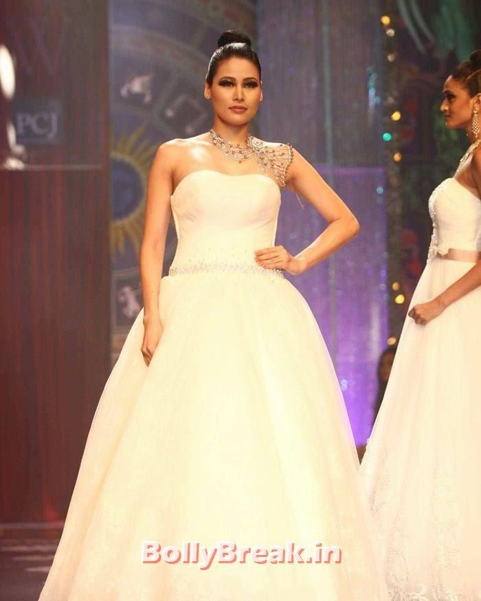 Shruti Agarwal, Sonam Kapoor Pics in White Saree - IIJW Finale 2014