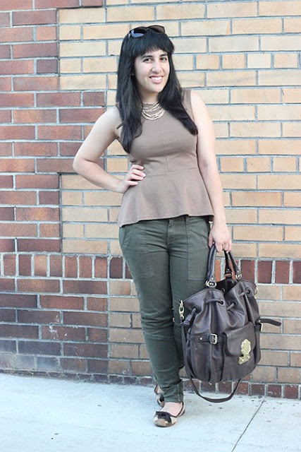 Brown and Green Outfit